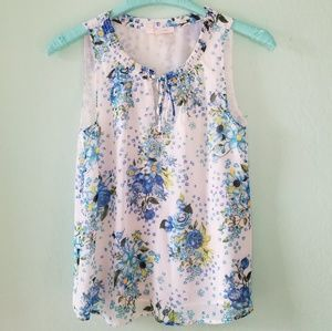 Skies are Blue floral sleeveless top.